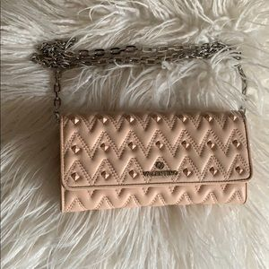 Valentino Cesare Quilted Studded Chain wallet